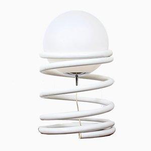 Lampe Vintage avec Globe en Verre et Spirale en Métal, Pays-Bas, 1970s
