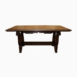 Vintage Art Deco Rosewood Macassar Coffee Table, 1940s