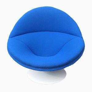 Großer blauer Modell F553 Sessel von Pierre Paulin für Artifort, 1960er