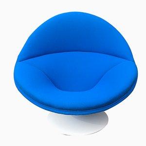 Poltrona sferica F553 blu di Pierre Paulin per Artifort, anni '60