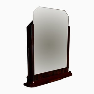 Espejo Art Déco vintage de palisandro, años 30