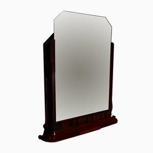 Specchio Art Deco vintage in palissandro, anni '30