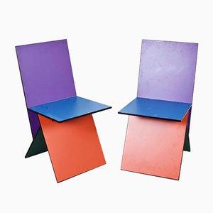 Schwedische Vintage Vilbert Stühle von Verner Panton für Ikea, 1990er, 2er Set