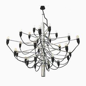 Lampada da soffitto nr. 2097/30 in metallo cromato di Gino Sarfatti per Flos, 1991