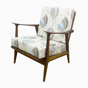 Dänischer Mid-Century Sessel mit Gestell aus Teak, 1950er