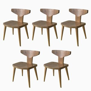 Dining Chairs by Jacob Kielland-Brandt for I. Christiansen, 1960s, Set of 5