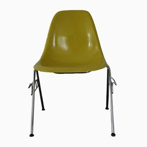 Yellow DSS Fiberglass Stacking Chairs by Charles & Ray Eames for Herman Miller, 1960s, Set of 6