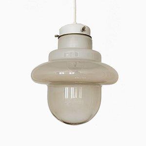 Lámpara colgante italiana de cristal de Murano, años 60