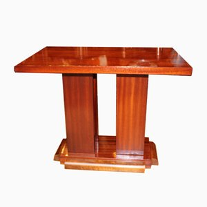 Art Deco Mahogany and Walnut Pedestal, 1930s