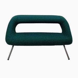 Italienisches Mid-Century Sofa mit Stoffbezug & verchromtem Gestell, 1960er