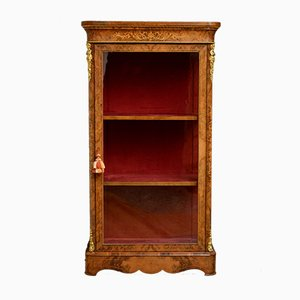 Antique Victorian Walnut Pier Cabinet