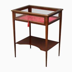 Antique Victorian Mahogany Bijouterie Display Table