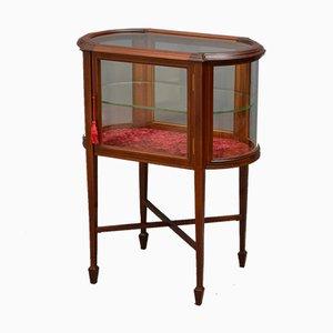 Table Vitrine Édouardienne Antique
