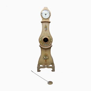 Antique Flower Grandfather Clock from Mora