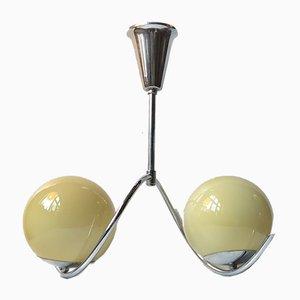 Lámpara de techo danesa Art Déco esférica de Voss, años 30