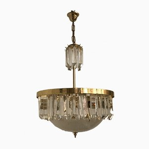 Midcentury Italian Crystal Prism Chandelier by Paolo Venini, 1970s