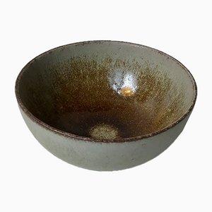 Keramikschale mit brauner Glasur von KAS für Palshus, 1970er