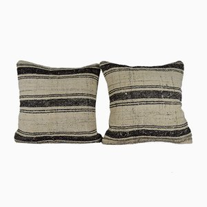 Stripe Pattern Kilim Pillow Covers from Vintage Pillow Store Contemporary, Set of 2