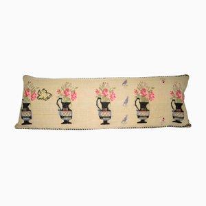 Langer Kelim Kissenbezug mit Tiermotiv von Vintage Pillow Store Contemporary
