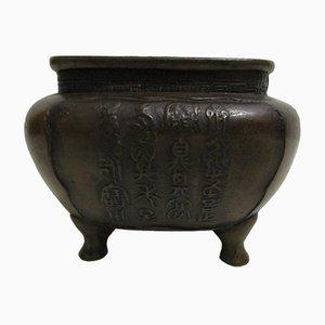 Quemador de incienso chino antiguo de bronce