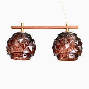 Doppelte schwedische Deckenlampe von Carl Fagerlund für Orrefors, 1960er