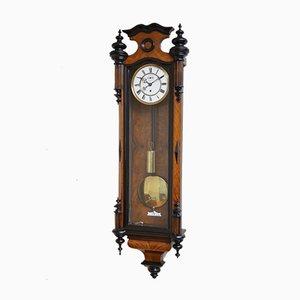 Viktorianische Wiener Uhr aus Nussholz