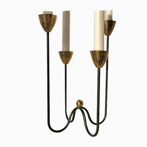 4-Armed Brass Candelabra by Gunnar Ander for Ystad-Metall, 1960s