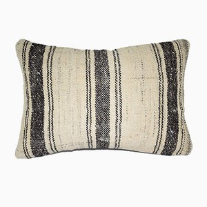 Turkish Natural Kilim Rug Pillow Cover from Vintage Pillow Store Contemporary