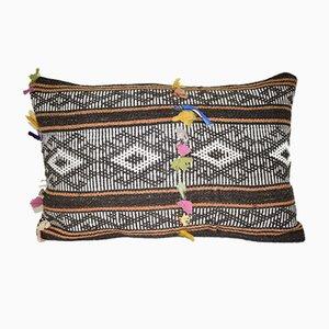 Länglicher türkischer Kissenbezug mit Ziegenhaar von Vintage Pillow Store Contemporary