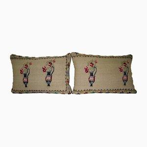Fundas de cojín Aubusson de tapicería tejidas de Vintage Pillow Store Contemporary. Juego de 2