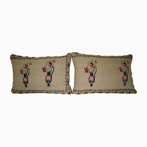 Handwoven Aubusson Tapestry Pillow Cover from Vintage Pillow Store Contemporary, Set of 2