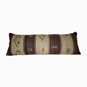 Natural Dyed Bohemian Woven Kilim Lumbar Pillow Cover from Vintage Pillow Store Contemporary