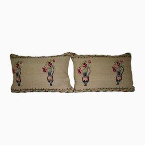 Fundas de cojín lumbar de kilim de Vintage Pillow Store Contemporary. Juego de 2