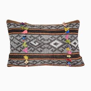 Funda de cojín turca alargada de kilim con decoración bohemio de Vintage Pillow Store Contemporary