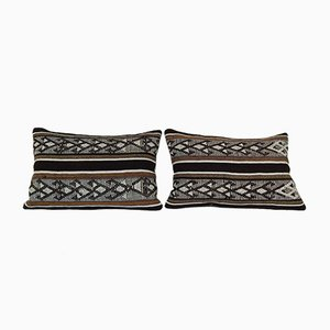 Goat Hair Lumbar Kilim Pillow Covers from Vintage Pillow Store Contemporary, Set of 2
