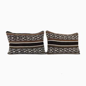 Handwoven Lumbar Kilim Pillow Covers from Vintage Pillow Store Contemporary, Set of 2
