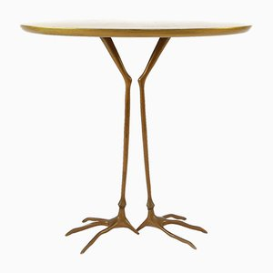 Traccia Bronze & Gold Leaf Table by Meret Oppenheim for Simon International, 1970s