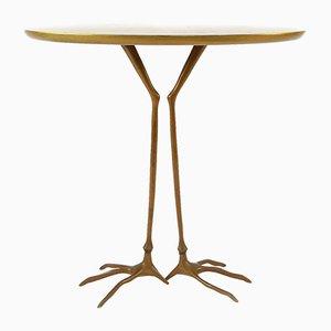 Traccia Tisch aus Bronze & Blattgold von Meret Oppenheim für Simon International, 1970er