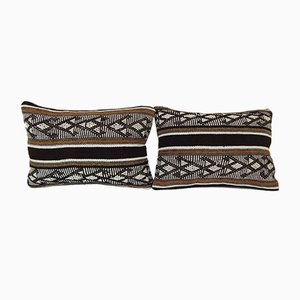 Turkish Lumbar Kilim Pillow Covers with Decor from Vintage Pillow Store Contemporary, Set of 2