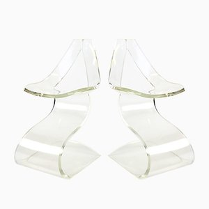 Sculptural Lucite Chair by Michel Dumas for Atelier Michel Dumas, 1970s