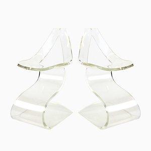 Silla escultural de metacrilato de Michel Dumas para Atelier Michel Dumas, años 70