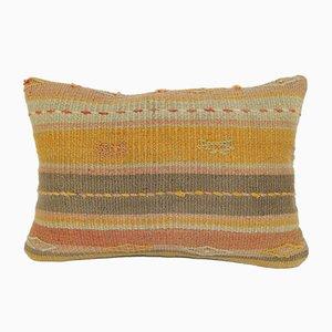 Kelim Teppich Kissenbezug aus Wolle mit blassen Farben von Vintage Pillow Store Contemporary