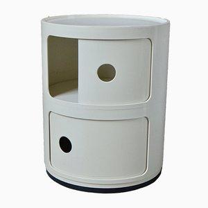 Mueble modular modelo Componibili vintage en blanco de Anna Castelli Ferrieri para Kartell, años 70