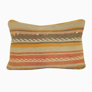 Striped Wool Lumbar Kilim Pillow Cover from Vintage Pillow Store Contemporary
