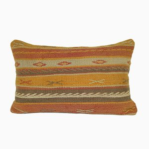 Handmade Wool Kilim Lumbar Pillow Cover from Vintage Pillow Store Contemporary