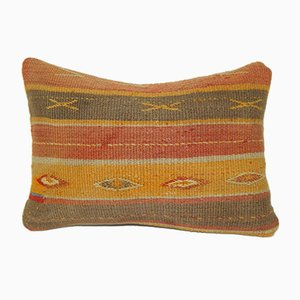 Turkish Oushak Kilim Rug Pillow Cover from Vintage Pillow Store Contemporary