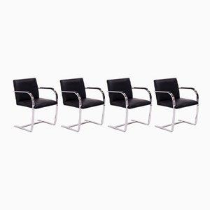 Chaises de Bar Brno Noires par Ludwig Mies van der Rohe pour Knoll Inc. / Knoll International, 2000s, Set de 4