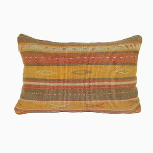 Turkish Handmade Flat-Weave Kilim Rug Cushion Cover from Vintage Pillow Store Contemporary