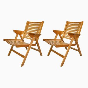 Rex Folding Chairs by Niko Kralj for Impakta Les, 1960s, Set of 2