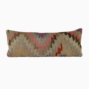 Longue Housse de Coussin Kilim Lombaire Géométrique de Vintage Pillow Store Contemporary
